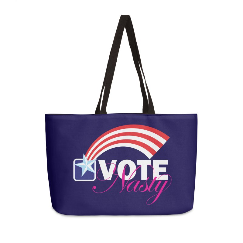 Star Spangled right to VOTE Nasty reversed Accessories Bag by Peregrinus Creative