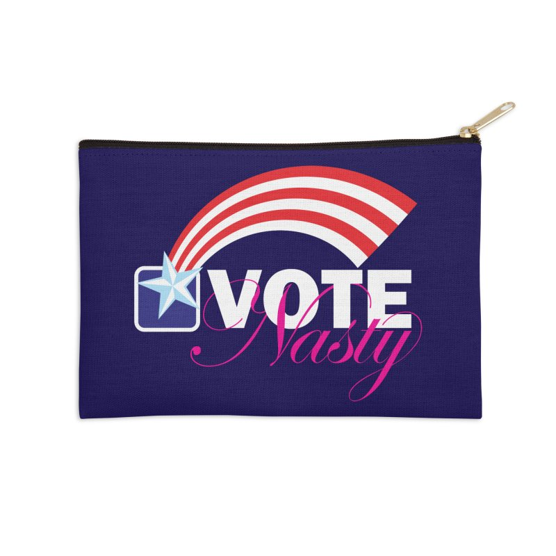 Star Spangled right to VOTE Nasty reversed Accessories Zip Pouch by Peregrinus Creative