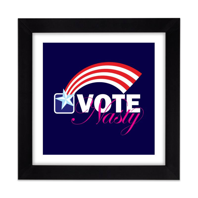 Star Spangled right to VOTE Nasty reversed Home Framed Fine Art Print by Peregrinus Creative