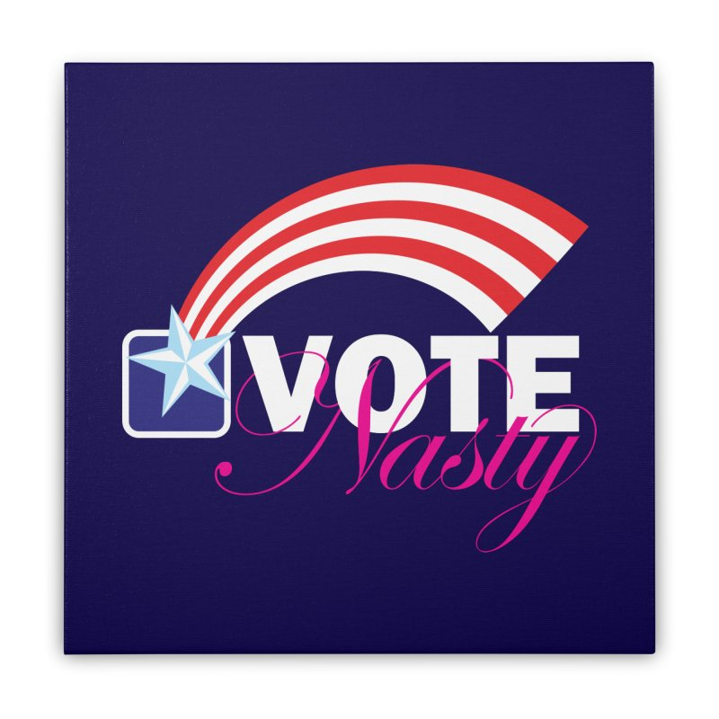 Star Spangled right to VOTE Nasty reversed Home Stretched Canvas by Peregrinus Creative