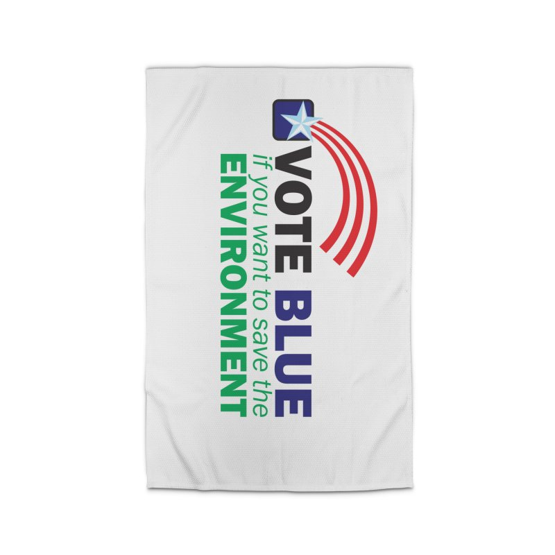 VOTE BLUE for the ENVIRONMENT Home Rug by Peregrinus Creative