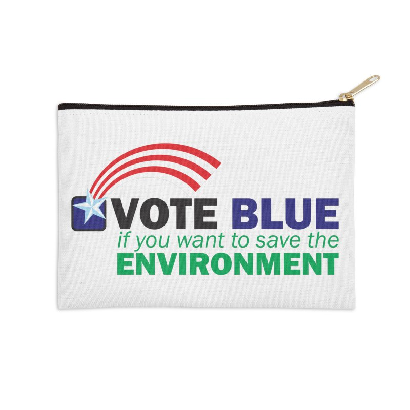VOTE BLUE for the ENVIRONMENT Accessories Zip Pouch by Peregrinus Creative