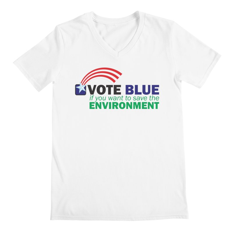 VOTE BLUE for the ENVIRONMENT Men's V-Neck by Peregrinus Creative