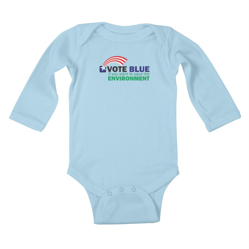 VOTE BLUE for the ENVIRONMENT Kids Baby Longsleeve Bodysuit by Peregrinus Creative