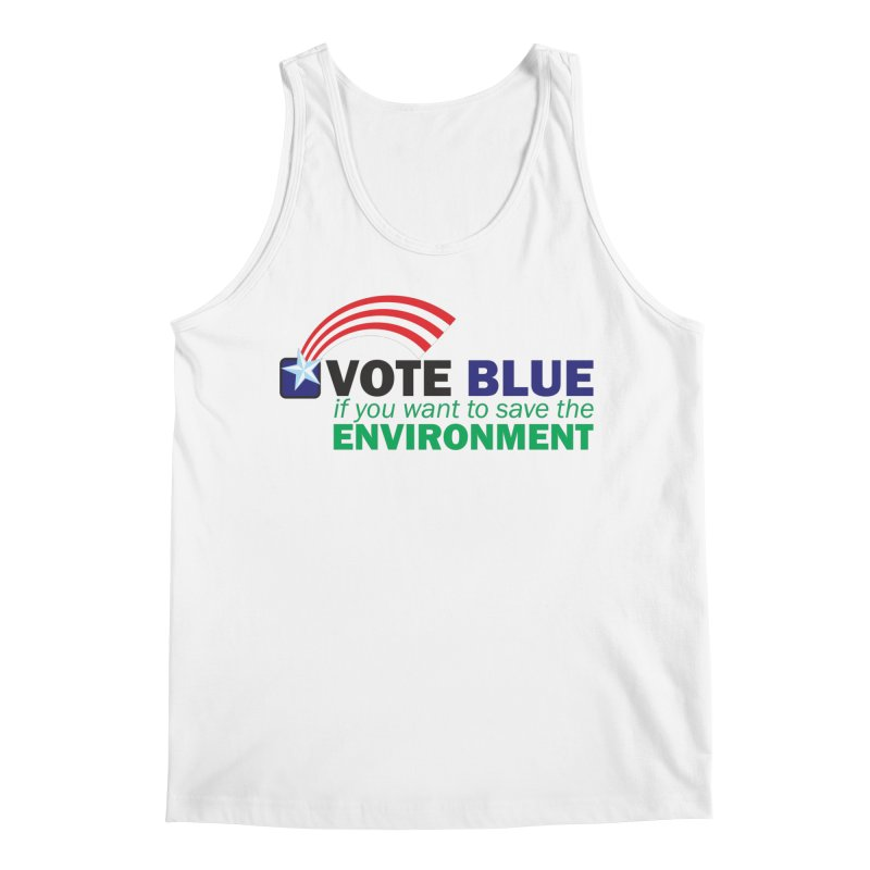 VOTE BLUE for the ENVIRONMENT Men's Tank by Peregrinus Creative