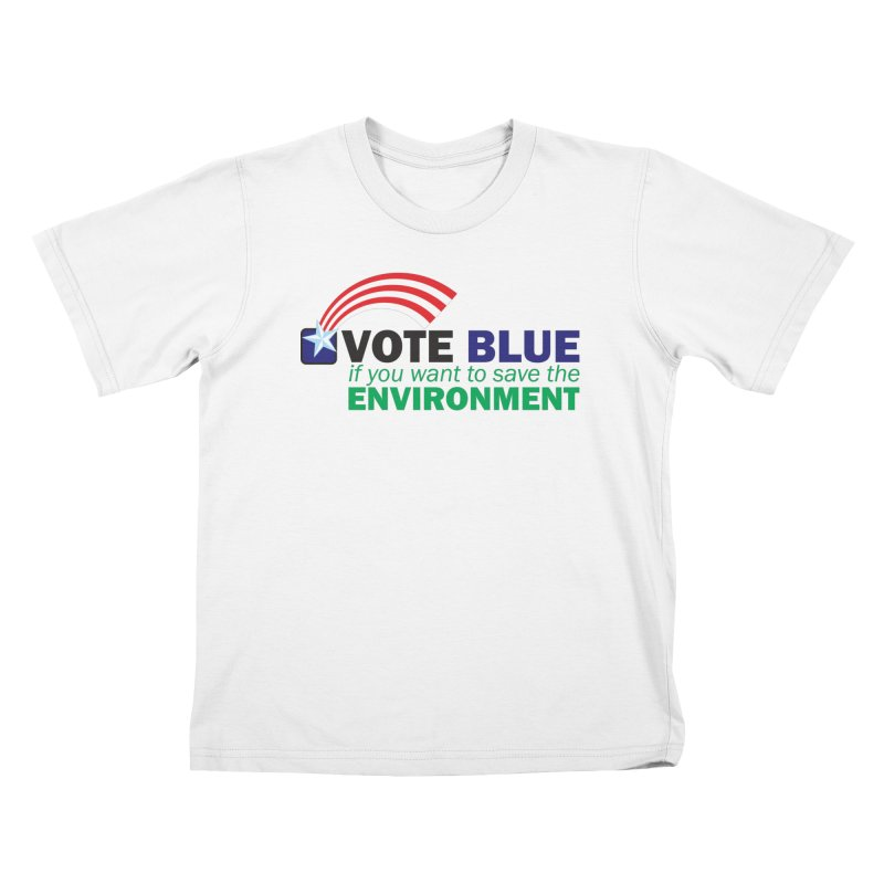 VOTE BLUE for the ENVIRONMENT Kids T-Shirt by Peregrinus Creative