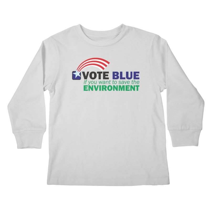 VOTE BLUE for the ENVIRONMENT Kids Longsleeve T-Shirt by Peregrinus Creative