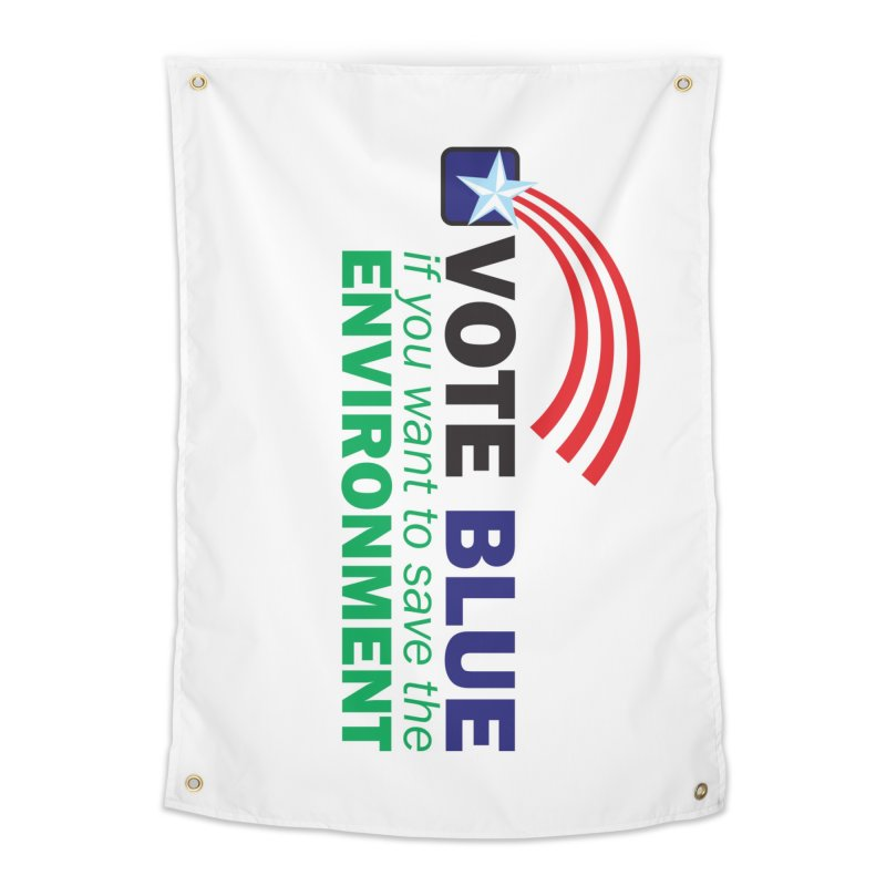 VOTE BLUE for the ENVIRONMENT Home Tapestry by Peregrinus Creative
