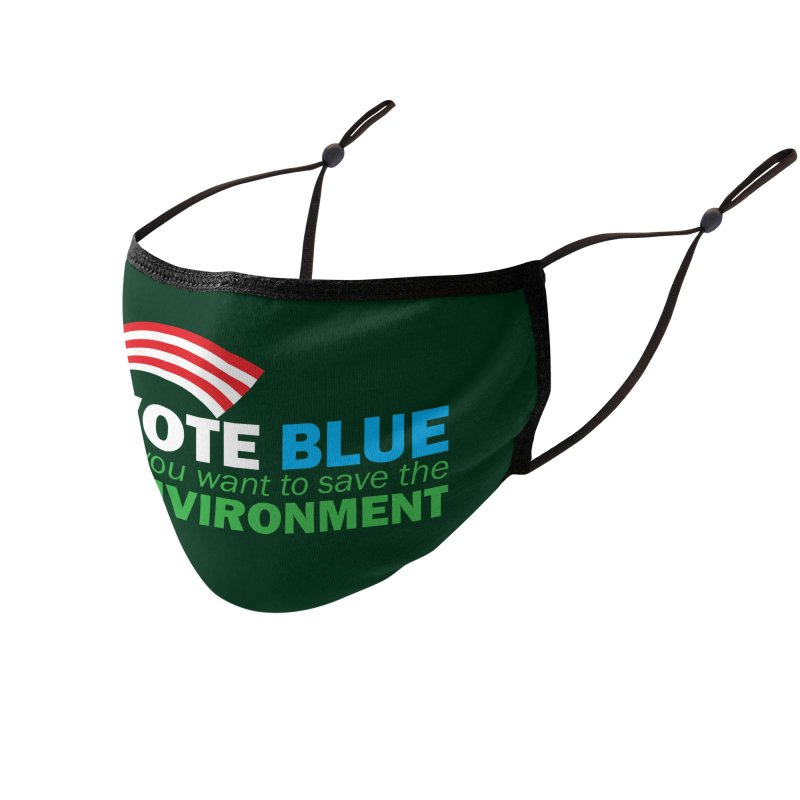 VOTE BLUE for the ENVIRONMENT reversed Accessories Face Mask by Peregrinus Creative