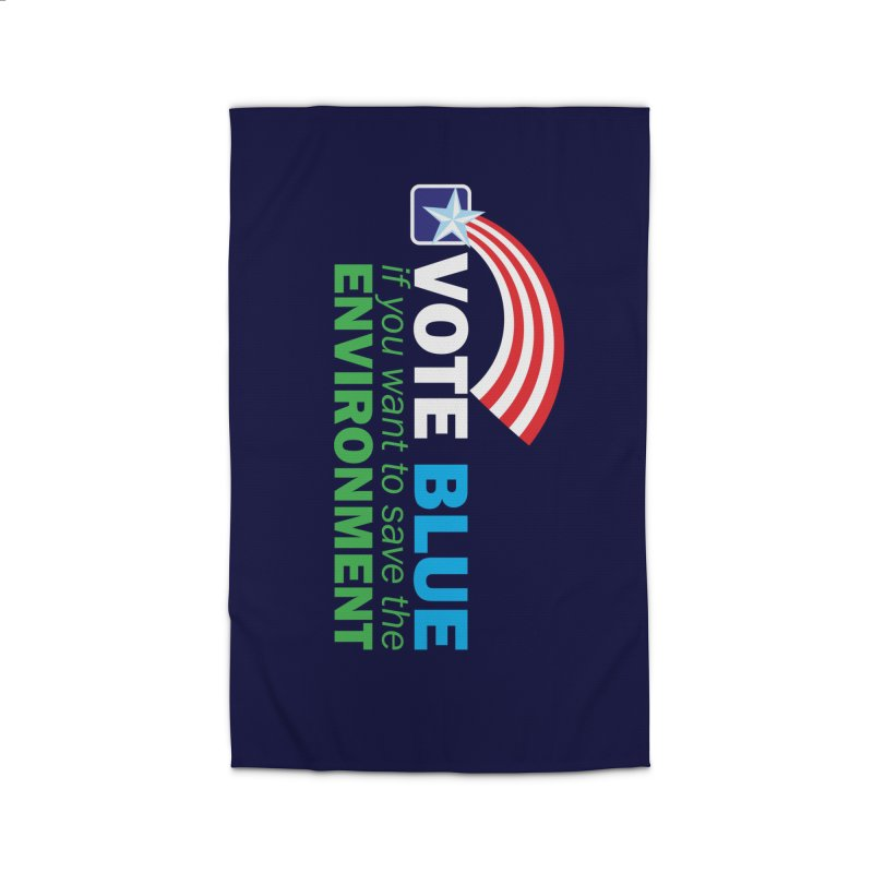 VOTE BLUE for the ENVIRONMENT reversed Home Rug by Peregrinus Creative