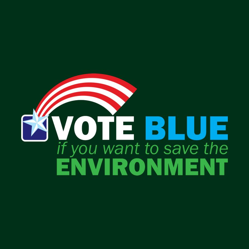 VOTE BLUE for the ENVIRONMENT reversed Accessories Button by Peregrinus Creative