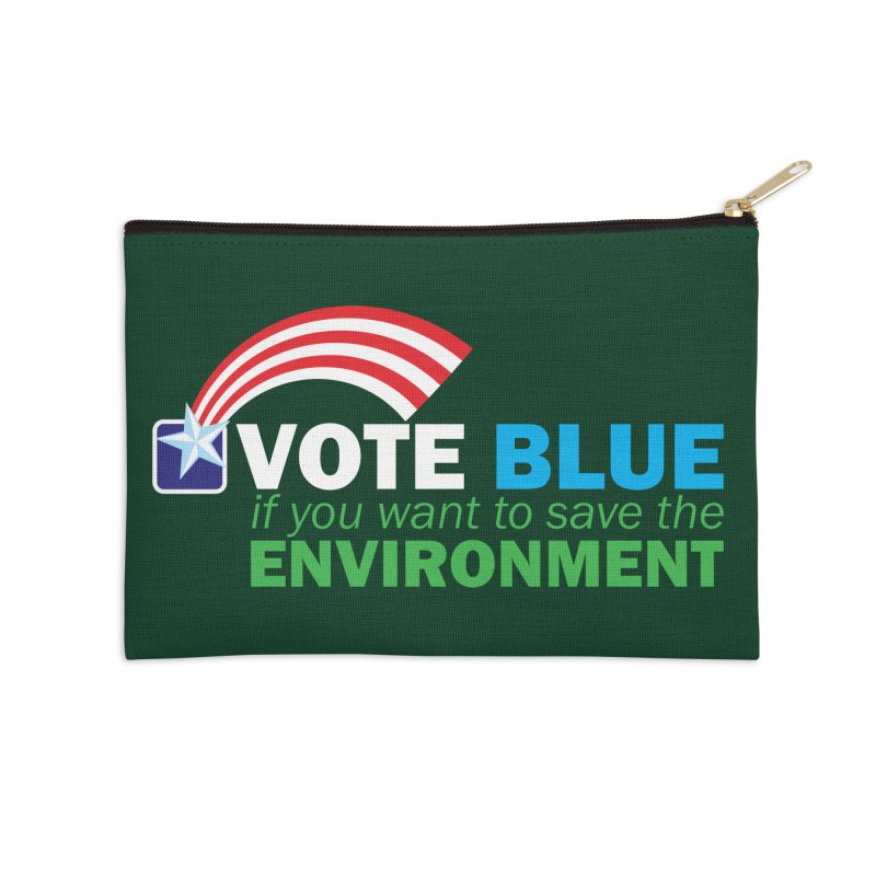 VOTE BLUE for the ENVIRONMENT reversed Accessories Zip Pouch by Peregrinus Creative