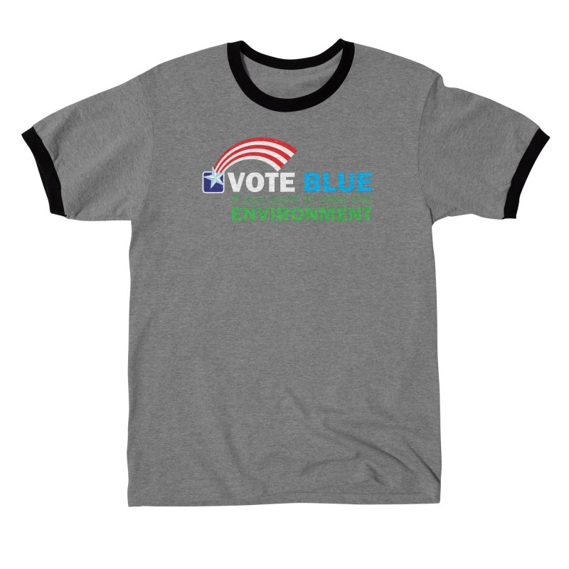 VOTE BLUE for the ENVIRONMENT reversed Men's T-Shirt by Peregrinus Creative