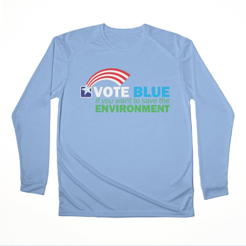 VOTE BLUE for the ENVIRONMENT reversed Men's Longsleeve T-Shirt by Peregrinus Creative