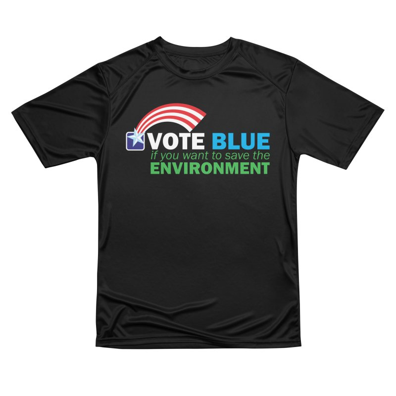 VOTE BLUE for the ENVIRONMENT reversed Women's T-Shirt by Peregrinus Creative