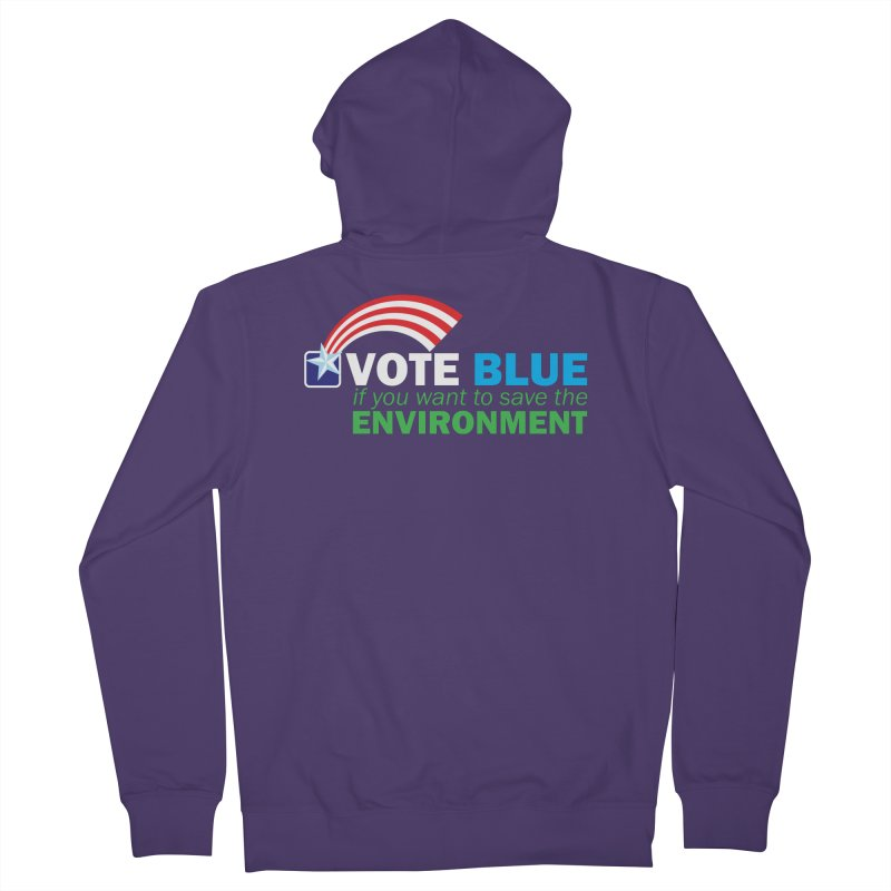 VOTE BLUE for the ENVIRONMENT reversed Women's Zip-Up Hoody by Peregrinus Creative