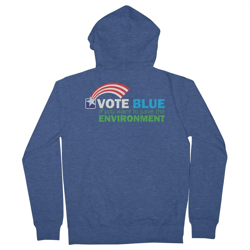 VOTE BLUE for the ENVIRONMENT reversed Men's Zip-Up Hoody by Peregrinus Creative