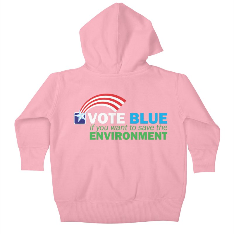 VOTE BLUE for the ENVIRONMENT reversed Kids Baby Zip-Up Hoody by Peregrinus Creative