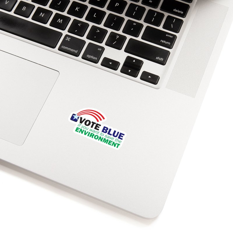 VOTE BLUE for the ENVIRONMENT reversed Accessories Sticker by Peregrinus Creative