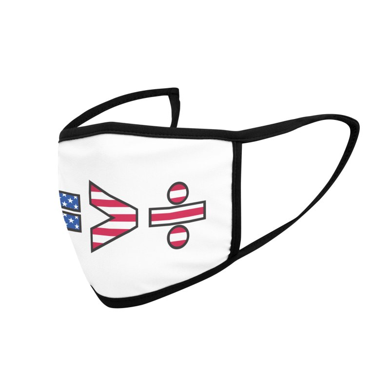 Equality is Greater than Division USA Accessories Face Mask by Peregrinus Creative