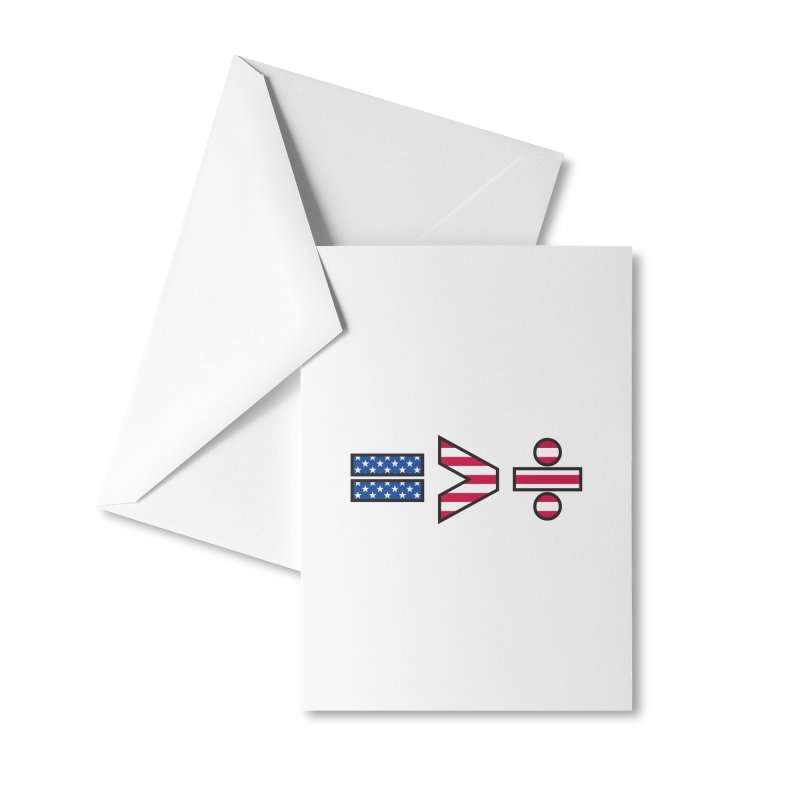 Equality is Greater than Division USA Accessories Greeting Card by Peregrinus Creative