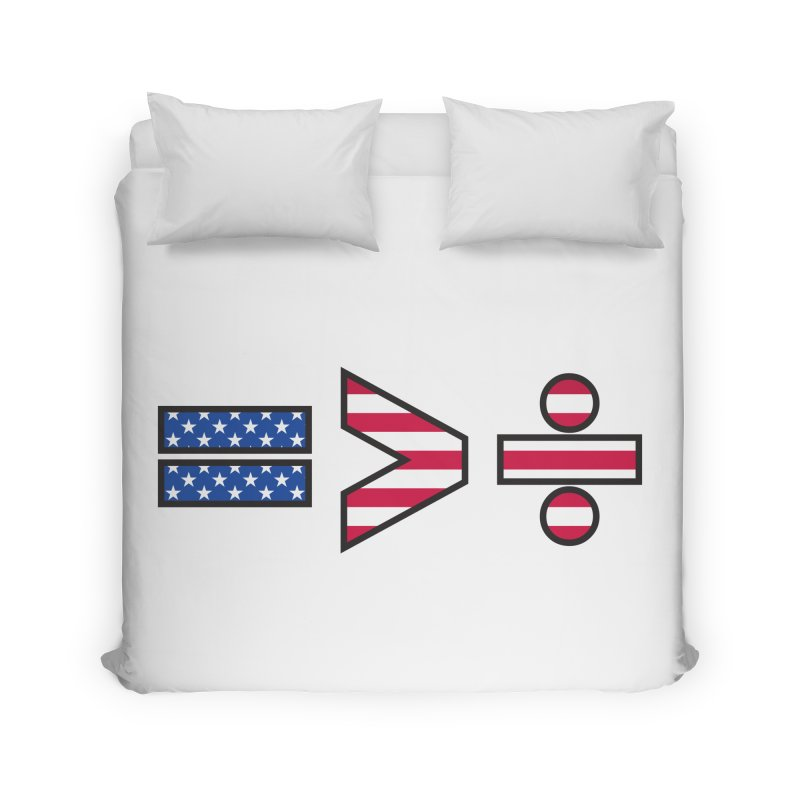 Equality is Greater than Division USA Home Duvet by Peregrinus Creative
