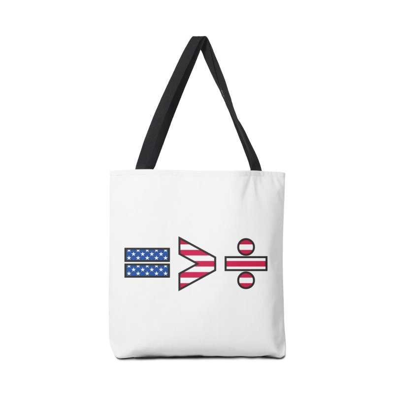 Equality is Greater than Division USA Accessories Bag by Peregrinus Creative