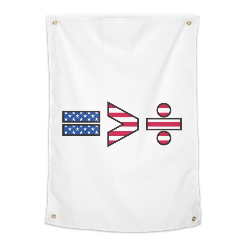 Equality is Greater than Division USA Home Tapestry by Peregrinus Creative