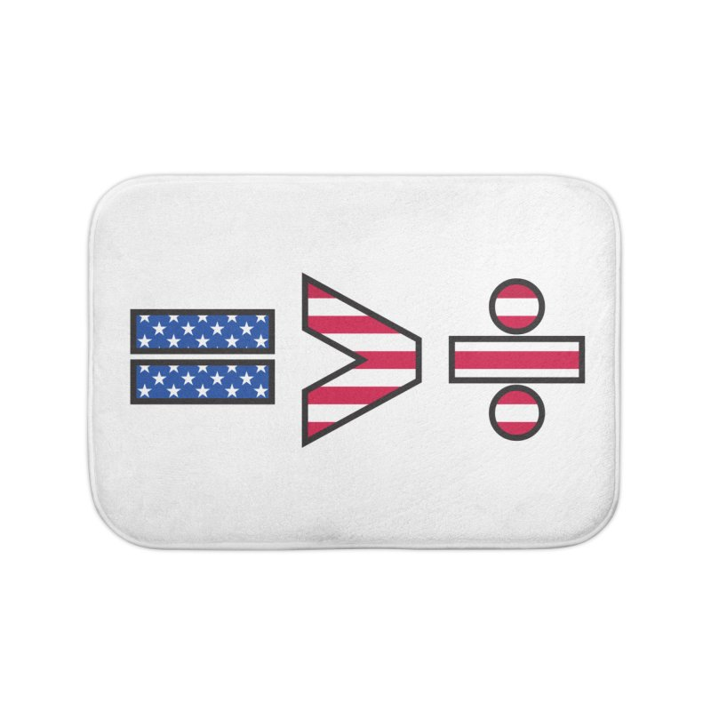 Equality is Greater than Division USA Home Bath Mat by Peregrinus Creative