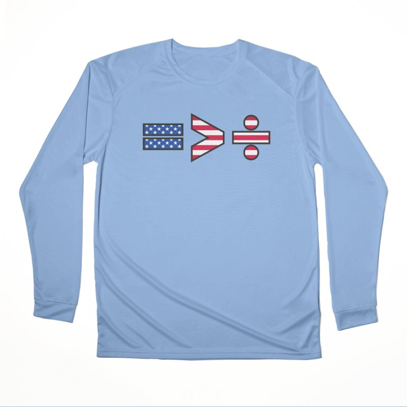 Equality is Greater than Division USA Women's Longsleeve T-Shirt by Peregrinus Creative
