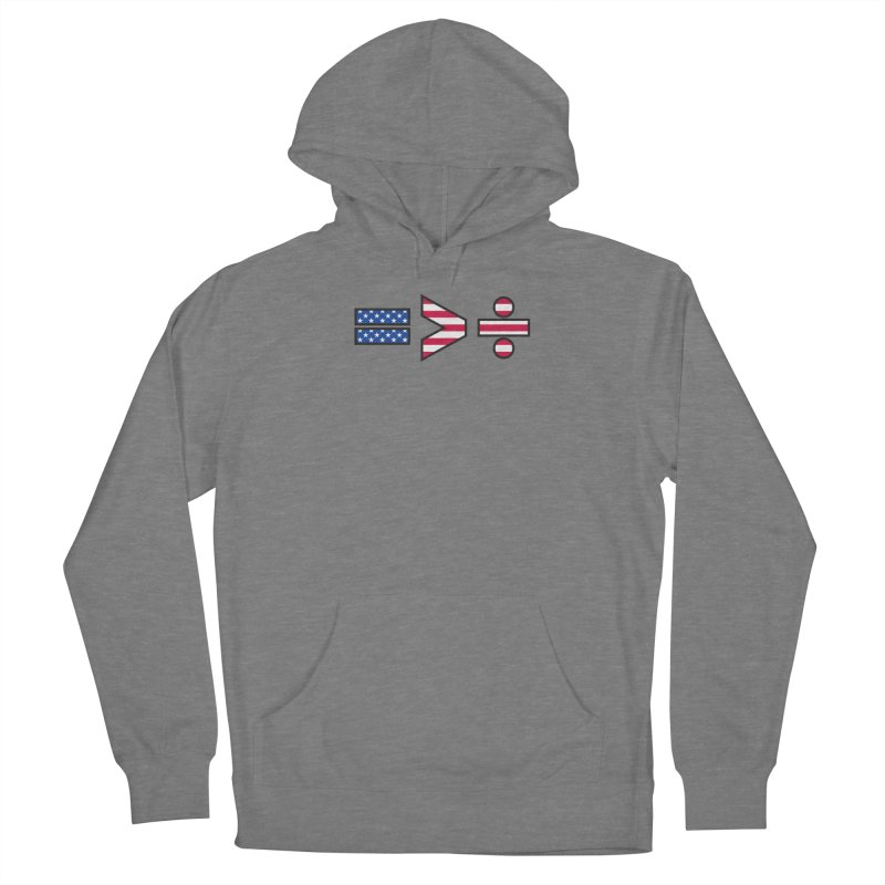 Equality is Greater than Division USA Women's Pullover Hoody by Peregrinus Creative