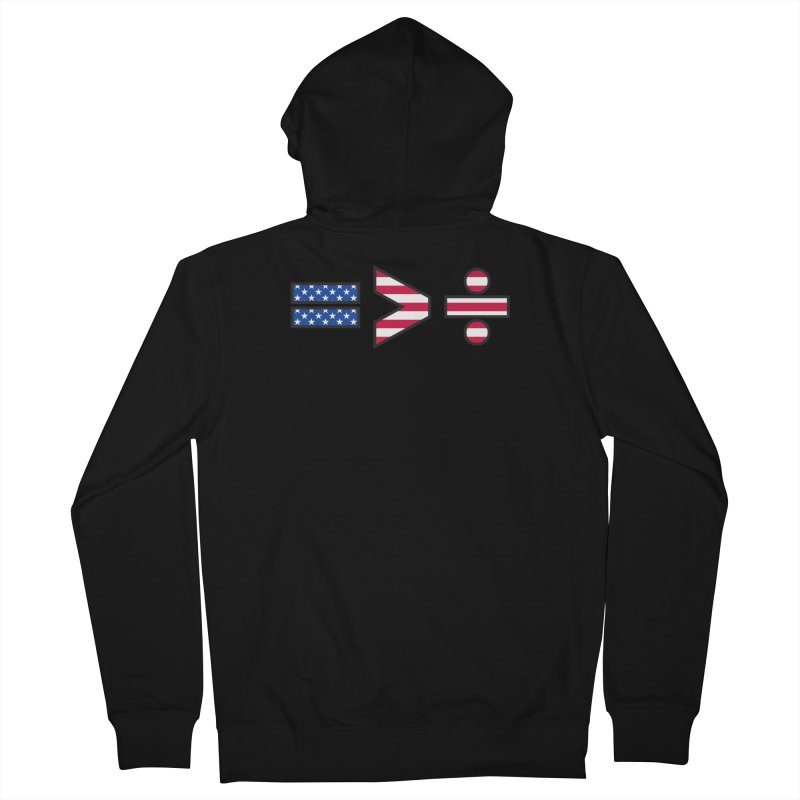 Equality is Greater than Division USA Women's Zip-Up Hoody by Peregrinus Creative