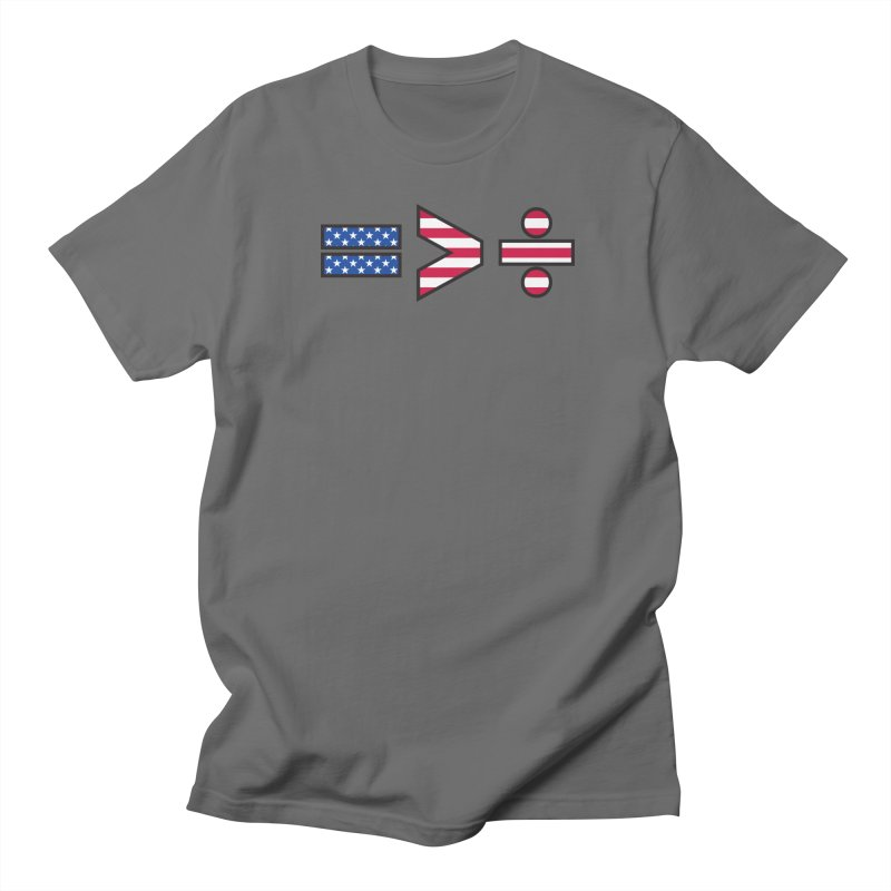 Equality is Greater than Division USA Men's T-Shirt by Peregrinus Creative