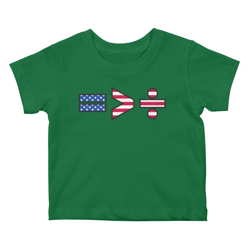 Equality is Greater than Division USA Kids Baby T-Shirt by Peregrinus Creative