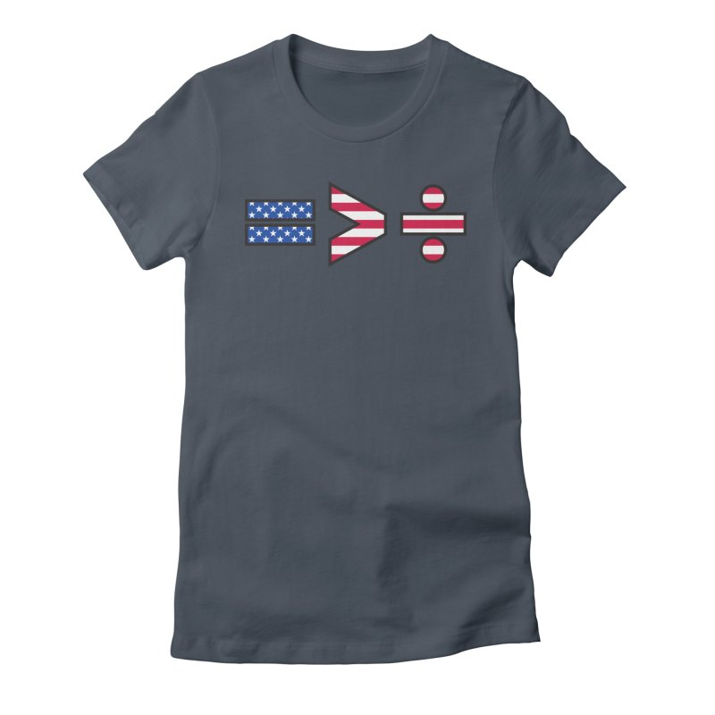 Equality is Greater than Division USA Women's T-Shirt by Peregrinus Creative