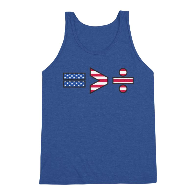 Equality is Greater than Division USA Men's Tank by Peregrinus Creative