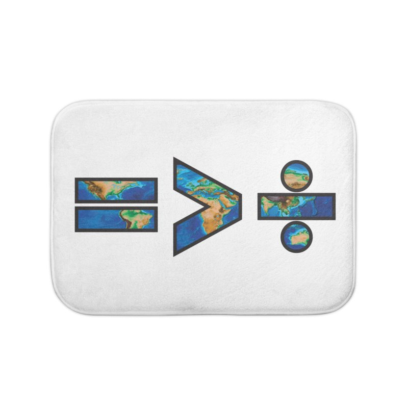 Equality is Greater than Division Home Bath Mat by Peregrinus Creative