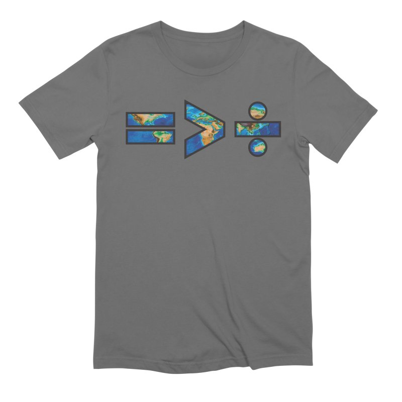 Equality is Greater than Division Men's T-Shirt by Peregrinus Creative