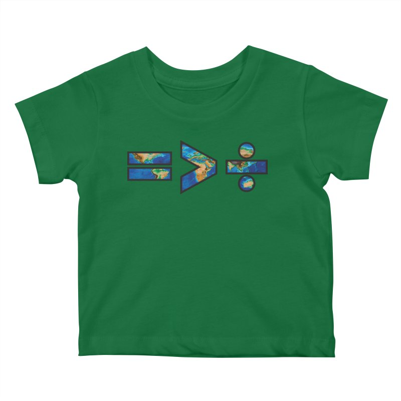 Equality is Greater than Division Kids Baby T-Shirt by Peregrinus Creative
