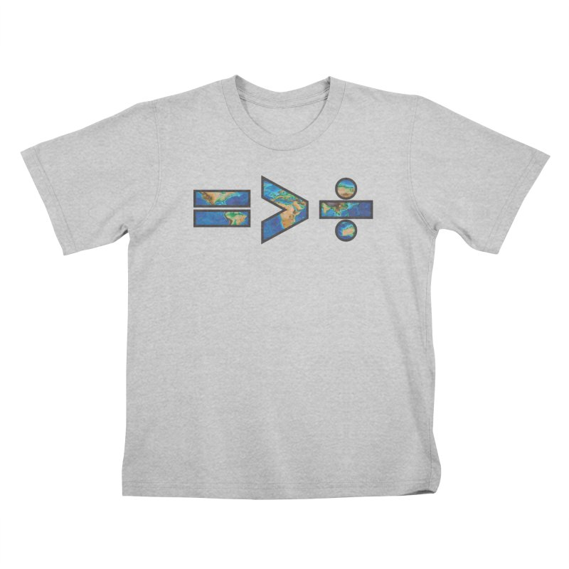 Equality is Greater than Division Kids T-Shirt by Peregrinus Creative