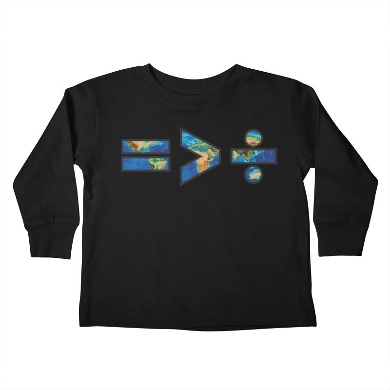 Equality is Greater than Division Kids Toddler Longsleeve T-Shirt by Peregrinus Creative