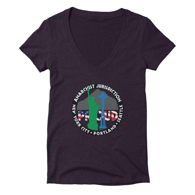 Anarchist Jurisdiction Proud Women's V-Neck by Peregrinus Creative