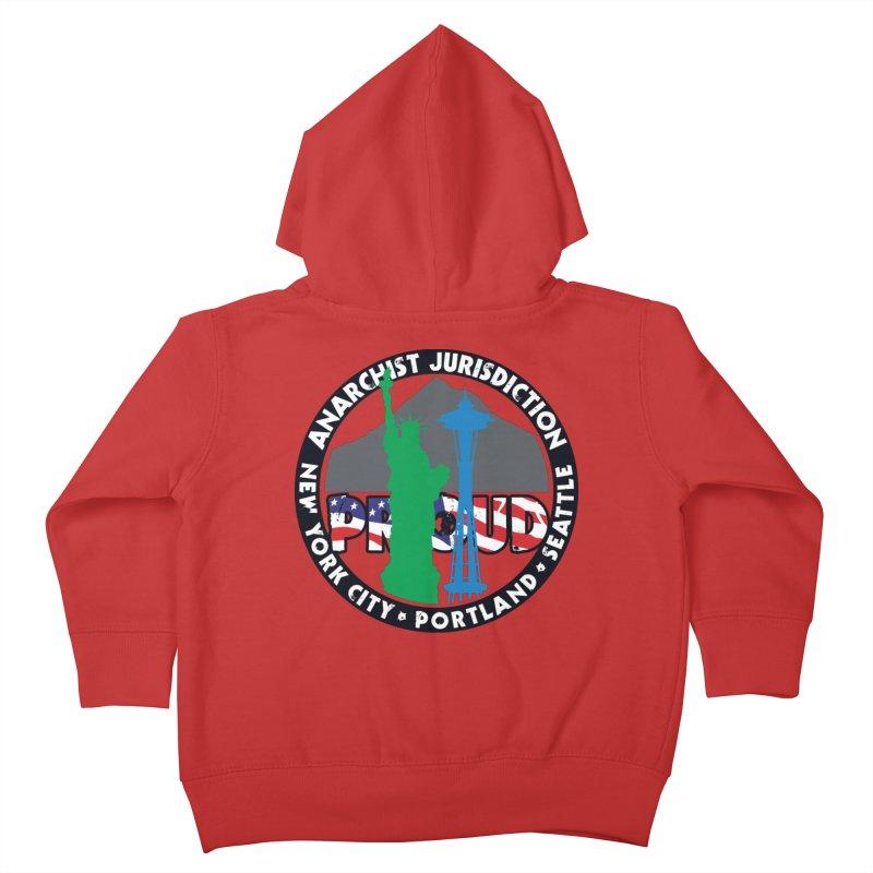 Anarchist Jurisdiction Proud Kids Toddler Zip-Up Hoody by Peregrinus Creative