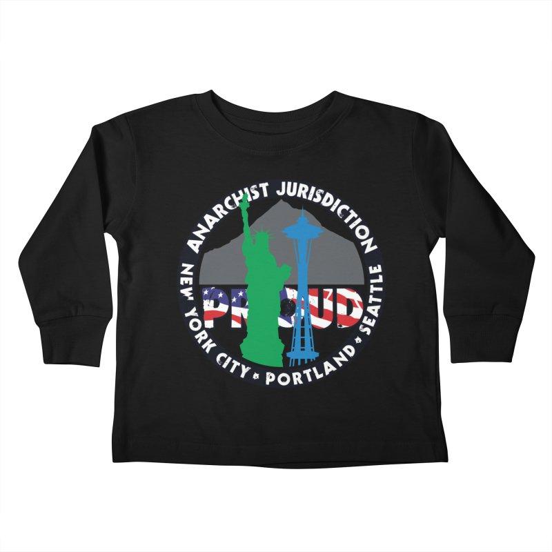 Anarchist Jurisdiction Proud Kids Toddler Longsleeve T-Shirt by Peregrinus Creative