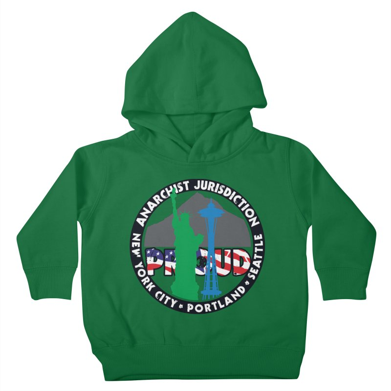 Anarchist Jurisdiction Proud Kids Toddler Pullover Hoody by Peregrinus Creative