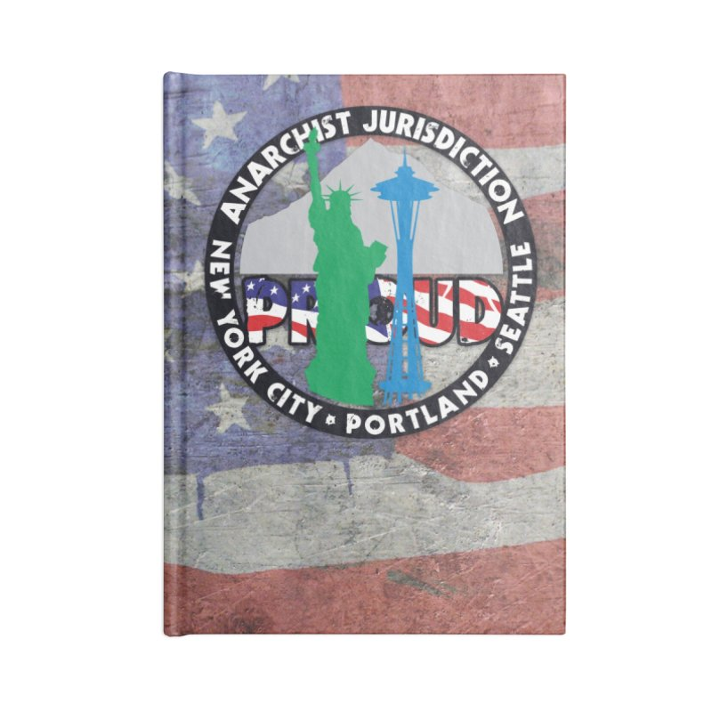 Anarchist Jurisdiction Proud :: Threadless 20th Anniversary submission Accessories Notebook by Peregrinus Creative