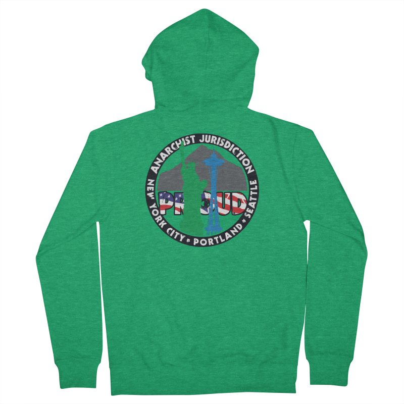 Anarchist Jurisdiction Proud :: Threadless 20th Anniversary submission Men's Zip-Up Hoody by Peregrinus Creative