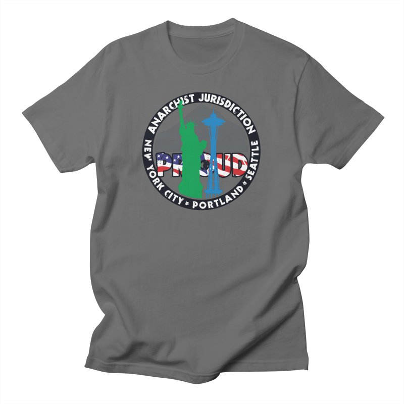 Anarchist Jurisdiction Proud :: Threadless 20th Anniversary submission Men's T-Shirt by Peregrinus Creative