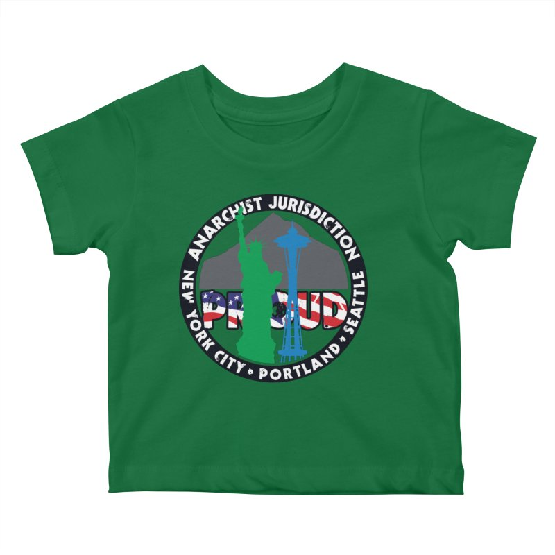 Anarchist Jurisdiction Proud :: Threadless 20th Anniversary submission Kids Baby T-Shirt by Peregrinus Creative
