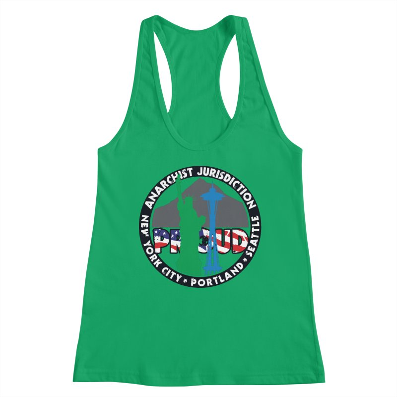 Anarchist Jurisdiction Proud :: Threadless 20th Anniversary submission Women's Tank by Peregrinus Creative